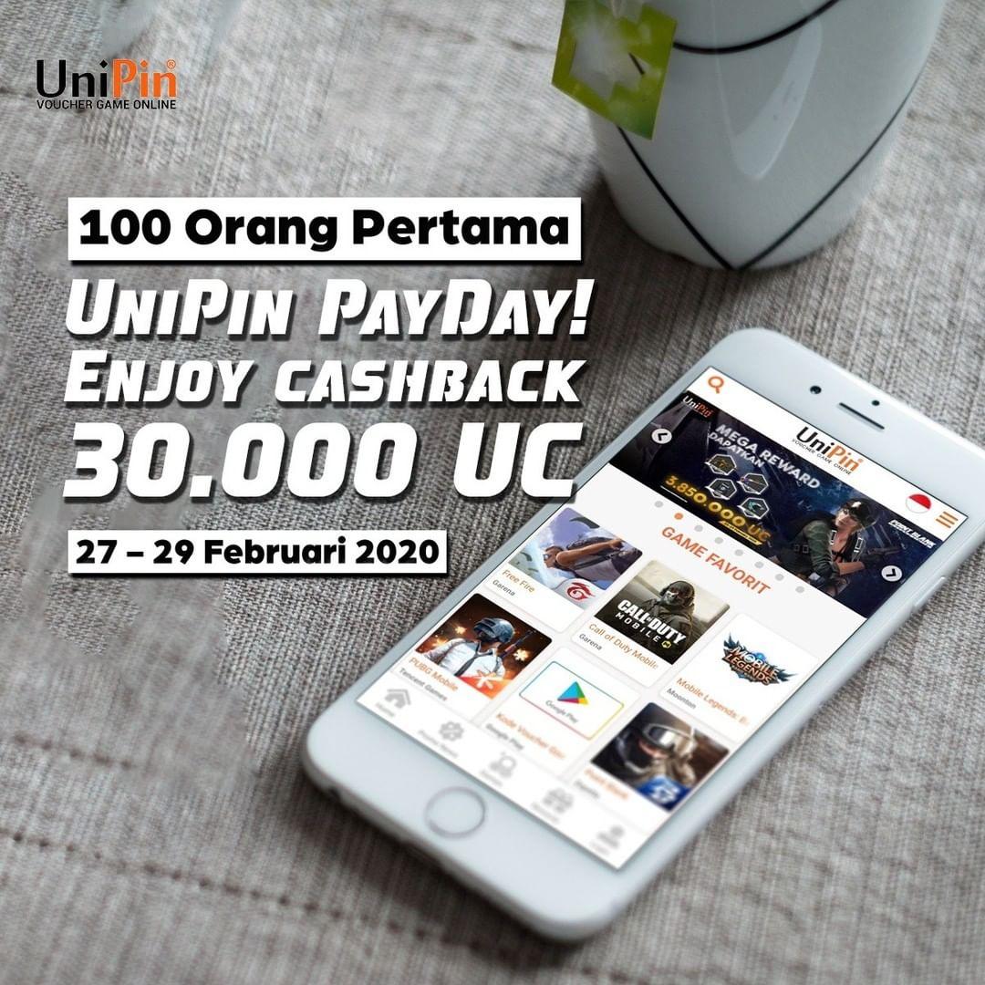 unipin payday cashback