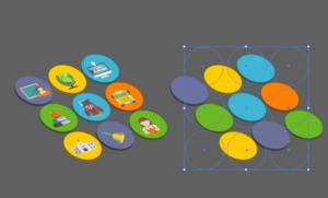 Semi 3D flat icon